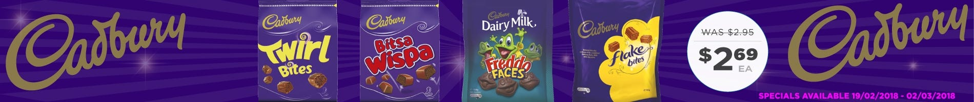 Click to Shop Cadbury Bags