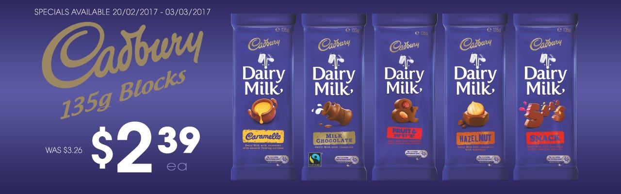 Click to Shop Cadbury Medium Blocks