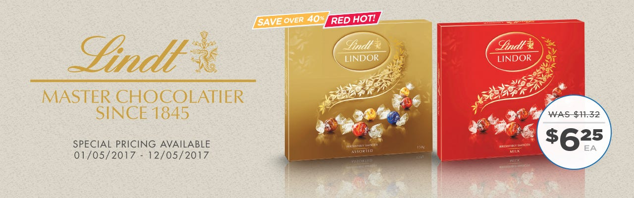 Click to Shop Lindt Gift Box