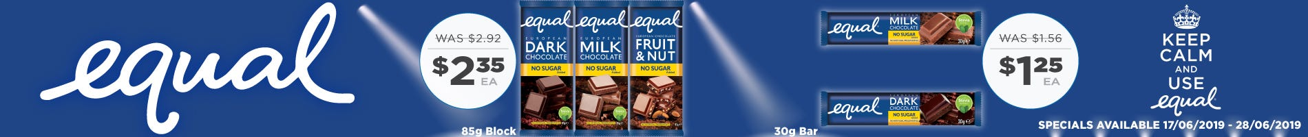 Click to Shop Equal Chocolate